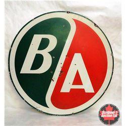 "Porcelain Round B/A sign (36"")"