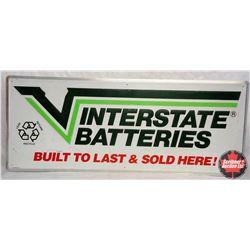 "Metal Interstate Batteries Sign (60""L x 24""H)"