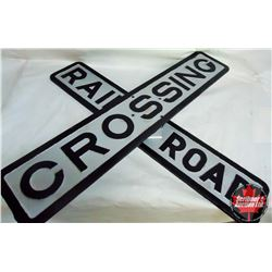 Early Cast Iron Railroad Crossing Sign