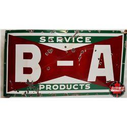 """Porcelain B/A Bowtie Sign (66""""L x 36""""H)"""