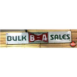 "B/A Bulk Sales Sign (117""W x 21""H x 1""D)"