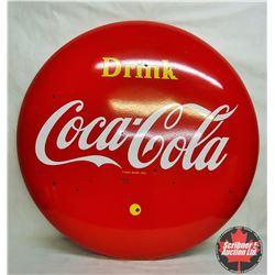 """Coca-Cola Button - Yellow Dot 48"""""""