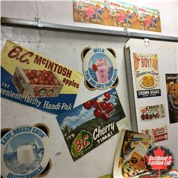 Large Collection of Grocery Store & Product Paper Advertising