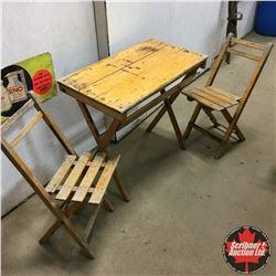 "Table & Chairs ""Latomme Zomergem"" Folding Picnic Set"