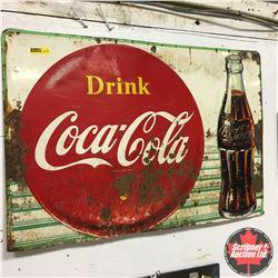 "Drink Coca-Cola Tin Sign (27""x18"")"