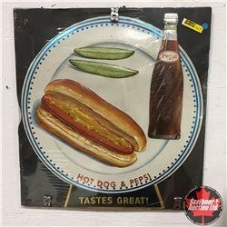 Pepsi 3-D Cardboard Diner Ads (Hotdog & Cheeseburger)