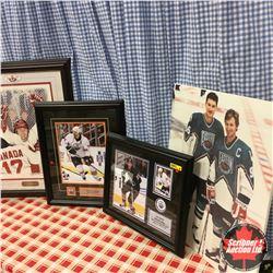 Framed Hockey Pics (4): Paul Henderson, Sam Gagner, Sheldon Souray, Mario Lemieux & Wayne Gretzky
