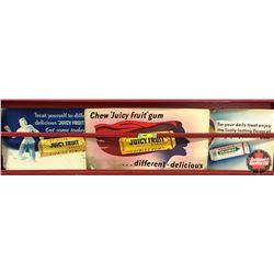 Cardboard Gum Ads (Juicyfruit & Wrigley's)