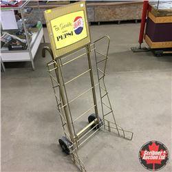 "Pepsi Store Display Rack/Mover ""Be Sociable Serve Pepsi"""