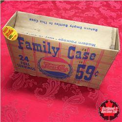 Pepsi Cola (Double Dot) Family Case 59¢ (Cardboard) AND Vintage Pepsi Cola Button