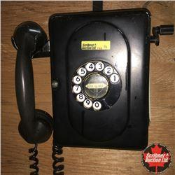 Wall Mount Rotary Phone