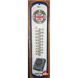 """Canada Cement Wall Thermometer 8""""Wx36""""H"""