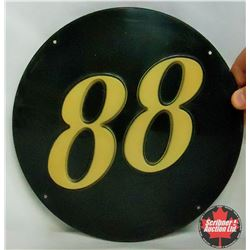 "B/A 88 Round Pump Sign – Plastic (10"")"