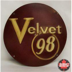 "B/A Velvet 98 Round Pump Sign – Plastic (10"")"