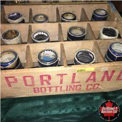 "Wooden Bottling Crate ""Portland Bottling Co"" with Cylinder Records (12)"