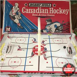 Official Bobby Hull Table Top Hockey Game w/Orig Box