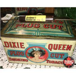 Dixie Queen Plug Cut Smoking Tobacco Tin