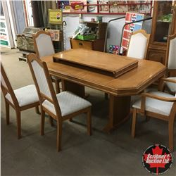 Dining Table with 6 Chairs & 1 Leaf