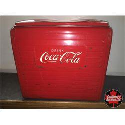 Drink Coca-Cola Picnic Cooler w/Tray 1962