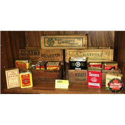 Variety of Spice Tins & Cheese Boxes