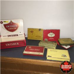 CHOICE of 3: Cigar Box w/Cig Tins (7)