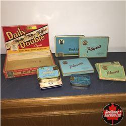 CHOICE of 3: Cigar Box w/Cig Tins (8)