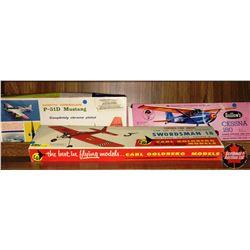 Model Kits - Planes (3) : Swordsman 18, Mustang, Cessna 180