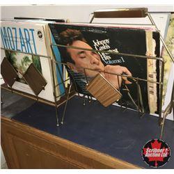 2 Mag Racks w/Record Albums