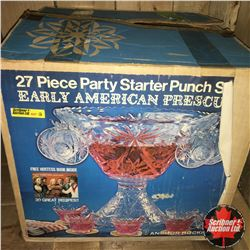 27pc Party Starter Punch Set in Orig. Box (Never Used)