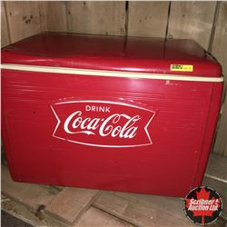 "Coca-Cola ""Fishtail"" Picnic Cooler w/Tray 1965 (& 3 Coca-Cola Pens)"