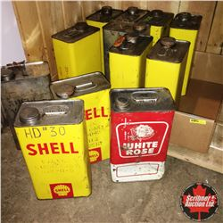 1 Gallon Tins (12): Shell (9) White Rose (1) Silver Shells (2)