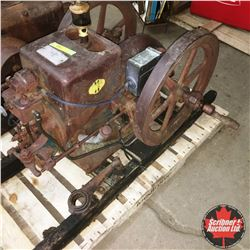 McCormick Deering Engine Int Harvester Co. HP 1-1/2 Speed 500 No. A107213 Seized