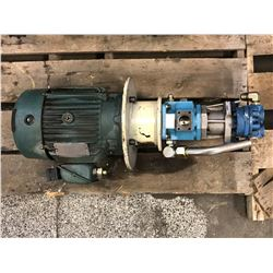 RELIANCE ELECTRIC 28GP18101201G MOTOR W/ VICKERS VALVES *SEE PICS FOR PART #*
