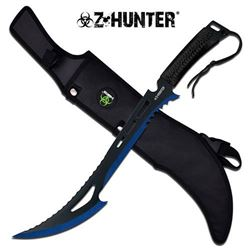 NEW Z-HUNTER MACHETE SLASHER SWORD (BLUE EDGE)