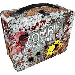 NEW ZOMBIE SURVIVAL KIT METAL LUNCH BOX