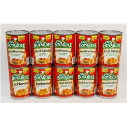 BAG OF CHEF BOYARDEE CANNED FOOD
