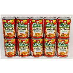 BAG OF CHEF BOYARDEE CANNED FOOD
