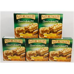 5 BOXES OF NATURE VALLEY PEANUT GRANOLA BARS