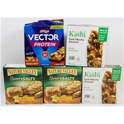 5 ASSORTED BOXES OF MEAL AND SNACK BARS
