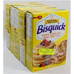 5 BOXES OF BISQUICK PANCAKE AND BAKING MIX.