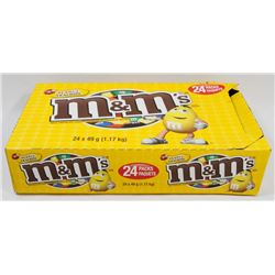 BOX OF PEANUT M&M'S 24 PACKS IN BOX