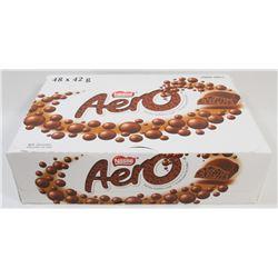 BOX OF 48 AERO CHOCOLATE BARS.