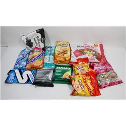 BAG OF ASSORTED GUM AND CANDY.