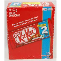 BOX OF KIT-KAT 2-PACK CHOCOLATE BARS.