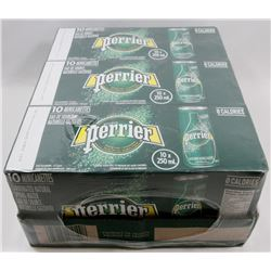 BOX OF PERRIER CARBONATED NATURAL SPRING WATER