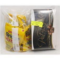 BAG OF BRIDGE MIXTURE AND 1 BOX OF POT OF GOLD