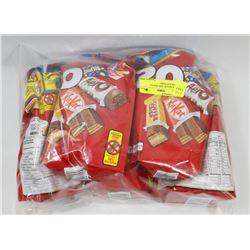 BAG OF SNACK SIZE NESTLE CHOCOLATE BARS.
