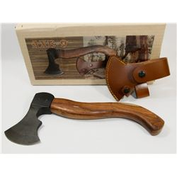 "NEW! 12.5"" ZOMBIE KILLER WOODEN HANDLE AXE WITH"