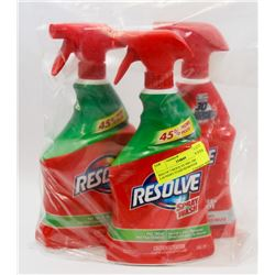 BAG OF 3 RESOLVE PRE-TREAT LAUNDRY STAIN REMOVER