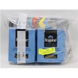 BAG OF ROGAINE HAIR REGROWTH SYSTEM AND ARTO LIFE